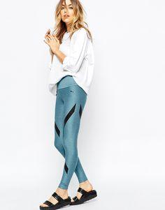 Image 1 ofPuma Leggings With Stripe Colour Block Print