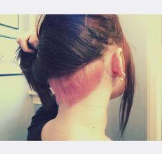 Pink hair | nape undercut | shornnape | dyed undercut | pastel hair