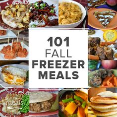 The leaves are turning and dreams of soups, stews and chilis are dancing in your head as fall is approaching. Here are our favorite fall freezer meals.
