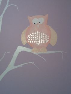 Detail from child's bedroom mural