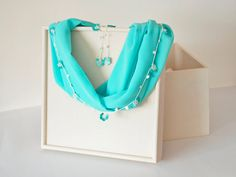 Customisable Infinity Scarf Mint Fabric Crochet by ReddApple, $34.00