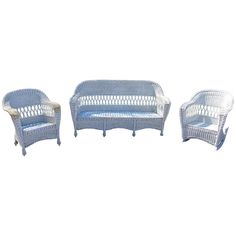 Antique Wicker Set   Four Piece | From A Unique Collection Of Antique And  Modern Living