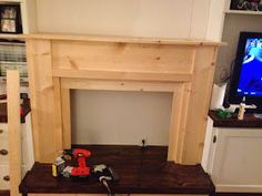 """I hate blogging about unfinished projects, but I'm going to anyway.   Warning! Lengthy post ahead.   This is the story of our """"fireplace"""". I..."""