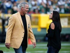 Cowboys vs. Packers:     October 16, 2016   -  30-16, Cowboys  -     Deanna Favre looks at her husband Brett Favre during a halftime ceremony of an NFL football game between the Green Bay Packers and the Dallas Cowboys Sunday, Oct. 16, 2016, in Green Bay, Wis.