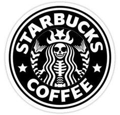 Starbucks Sticker halloween poster 'Starbucks ' Sticker by Jade Foster Arte Starbucks, Disney Starbucks, Custom Starbucks Cup, Starbucks Logo, Starbucks Crafts, Starbucks Tumbler, Starbucks Coffee, Halloween Logo, Starbucks Halloween