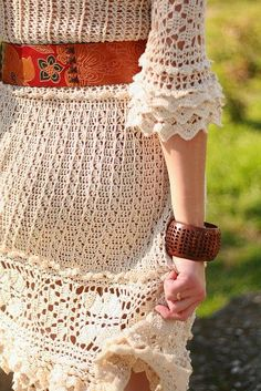 Little Treasures: 15 Crochet Dresses - free patterns and charts #crochetdresses