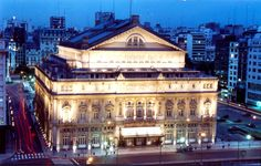 The Teatro Colón (Spanish) (Columbus Theatre) is the main opera house in Buenos Aires, Argentina, acoustically considered to be amongst the five best concert venues in the world. (See pin of stain glass from inside this building)