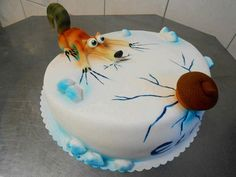 Ice Age Scrat cake - For all your cake decorating supplies, please visit craftcompany.co.uk