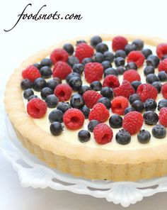Sugar Cookie 4th of July Fruit Tart by Food Snots, via Flickr
