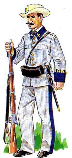 Resultado de imagen de infanteria española guerra de cuba