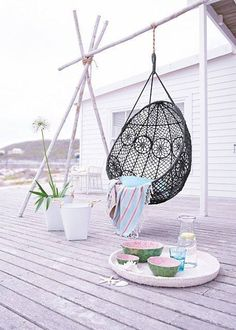 Knotted Melati Hanging Chair via Anthropologie ♥