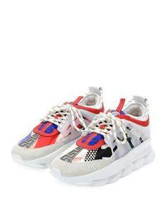 Versace Colorblock Chain Reaction Sneakers. Women s ... 06b11ca1ea