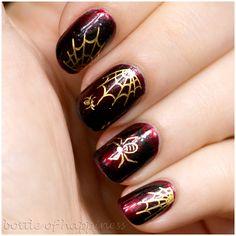 bottle of happiness HALLOWEEN #nail #nails #nailart