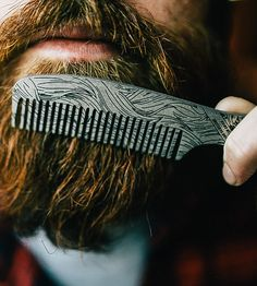 Beard Comb Bottle Opener by Damn Handsome on Scoutmob
