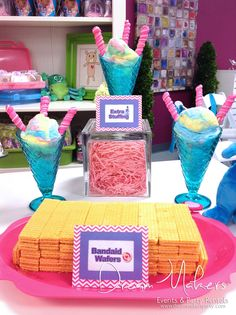 Bandaid Wafer Cookies At A Doc McStuffins Birthday Party See More Ideas CatchMyParty