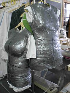 "DIY DressForm - This is awesome!  I was just thinking I was going to look for one to use when crafting my necklaces - I want to be able to hang up my shirt/dress/jackets and then layer my peices on to ""see"" how they look if they need adjustments etc... LOVE IT!! anything w/ duct tape is cool anyway!"
