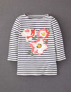 Big Bloom Appliqué T-shirt   Mini Boden