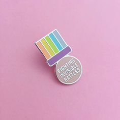 Fighting Invisible Battles Medal Enamel Pin Badge Adult