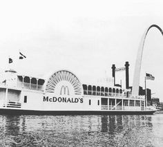 McDonald's boat on the Mississippi River in St Louis.