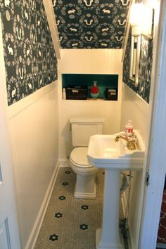 under stairs powder room | The House | My Old Country House
