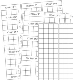 square chain worksheets montessori math pinterest montessori math montessori and math. Black Bedroom Furniture Sets. Home Design Ideas