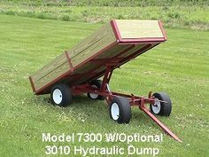 Utility Dump Wagons & Trailers for ATV, lawn and garden, Compact and Subcompact Utility Tractors by CMI. Zombie Apocalypse Survival Weapons, Accessoires Quad, Custom Tool Boxes, Trailer Dolly, Utility Tractor, Boer Goats, Tractor Attachments, Dump Trailers, Farm Tools