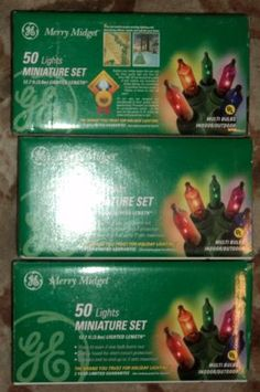 Lot of 3 New Boxes Miniature Christmas Lights