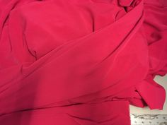 """Hot Pink"""" Double Crepe de Chine"""" Fabric, sueded texture and drape, 56 inches wide, Price is per Yard by PromenadeFabrics on Etsy"""