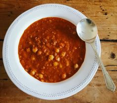 Chilli lentil and chickpea soup
