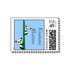 Cute Pandas Postage Stamp