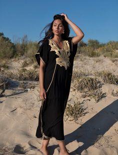 49ebd97e9d674c Spring Kaftan Sale   Black Gold Marrakech Resort Caftan Kaftan - beach  cover ups