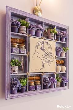 Innenverkleidung Hortensia Comme il Faut im Internet … Decoration, Art Decor, Diy Home Decor, Room Decor, Room Interior, Interior Design Living Room, Lavender Crafts, Shadow Box Art, Beauty Salon Decor