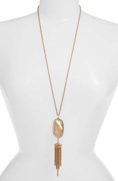 Kendra Scott 'Rayne' Stone Tassel Pendant Necklace available at #Nordstrom