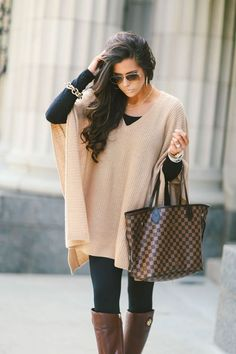 poncho tops. so chic