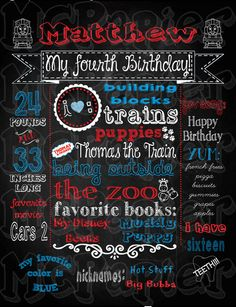 Printable Birthday Thomas the Train Chalkboard Sign - YOU PRINT on Etsy, $16.92 CAD