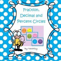 Fractions, Decimals & Percentage Circles