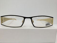NEW AUTHENTIC OKKI FACTORY BR75 COL 006 BLACK EYEGLASSES FRAME HAND MADE ITALY