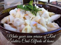 Crab Alfredo With Pasta (Red Lobster's Crab Alfredo) | Copycat Restaurant Recipes