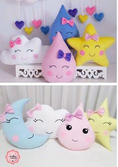 Baby Sewing Projects, Sewing For Kids, Diy For Kids, Crafts For Kids, Cute Pillows, Baby Pillows, Baby Crafts, Felt Crafts, Baby Cot Bumper