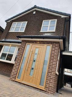 Industry leading manufacturer of tailor made composite doors Porch Uk, House Front Porch, Porch Doors, Front Porch Design, House Doors, House Entrance, Facade House, Barn Doors, Porch Designs Uk