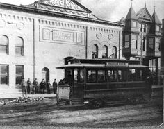 A Belle City Trolly in frount th Belle City SI. R.Way82 Building Racine WI
