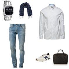 Sneakers Outfit - #JackJones #NudieJeans #NewBalance #Nixon #PoloRalphLauren #Cowboysbag - Clooy.nl
