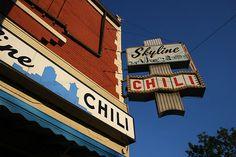Skyline Chili in Clifton, Cincinnati, Ohio. In the neighborhood.