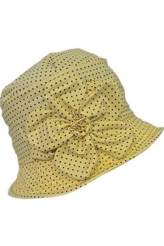 c38487c8668 Yellow pin dots with flower rain hat  SS2015 from Grevi at Moods of  Florence in