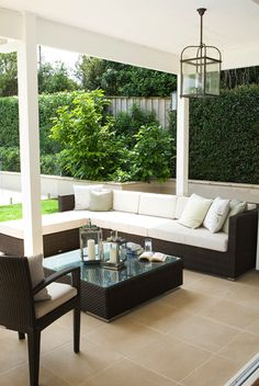 Every great home needs an outdoor room to spend warm evenings entertaining and to spend lazy weekends reading the papers - For more traditional home ideas: hamptonyorkhomes.com.au