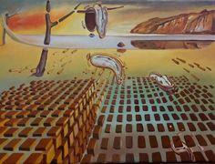 """Trabalho inspirado em a """"Desintegração da Persistência da Memória"""" de Dalí - (14ª etapa) (8/3/2017)"""