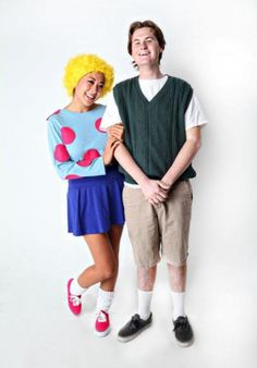 How to make a '90s Doug Funnie and Patti Mayonnaise throwback Halloween couple costume.