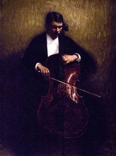 Hammershoi, Vilhelm (1864-1916) - 1893 Portrait of the Cello Player Henry Bramsen