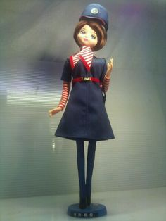 Vintage showa doll - air hostess.