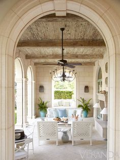 loggia with touches of modern + rustic